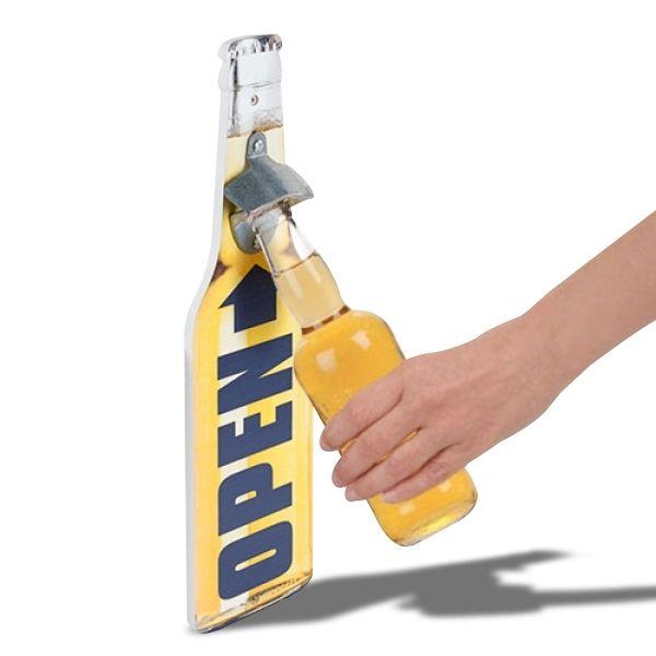 Totalcadeau Ouvre-bouteille murale en forme de bouteille