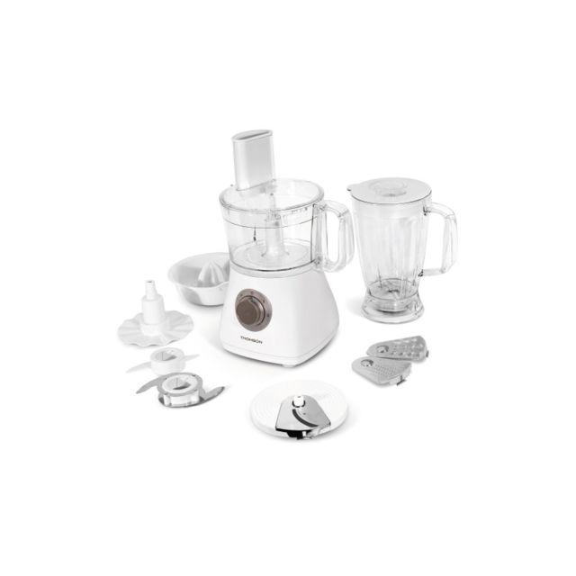 Thomson - Thfp06092 - Robot multifonction - Capacité du bol principal 1.2 litres - Blender : 1.8 litres - Puissance 500W