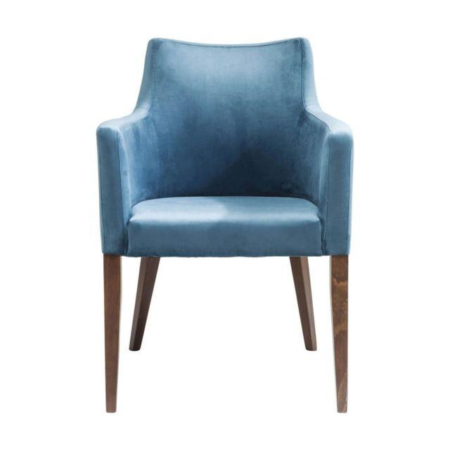 karedesign chaise avec accoudoirs mode velours bleu p trole kare design pas cher achat. Black Bedroom Furniture Sets. Home Design Ideas