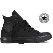 Converse - All Star cuir noir monochrome haute 014530