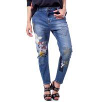 Coton Bleu Jeans Femme 19wwdd01blue lcK1TFJ