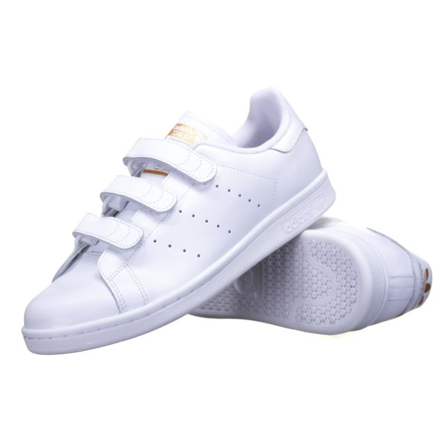 Adidas - Chaussure Stan Smith Cf S75188 Blanc/Or - pas cher ...