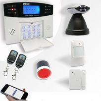 EMATRONIC - Alarme kit mixte sans-fil et filaire Gsm et caméra Ip motorisée Al01C