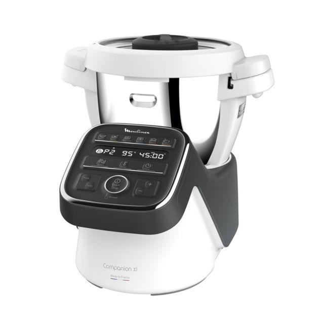 MOULINEX Robot cuiseur Companion XL - HF80C800 - Blanc/Gris ardoise