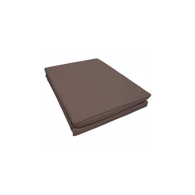 homemaison drap plat uni 1 personne 57 fils lina point bourdon blanc 180cm x 290cm pas. Black Bedroom Furniture Sets. Home Design Ideas