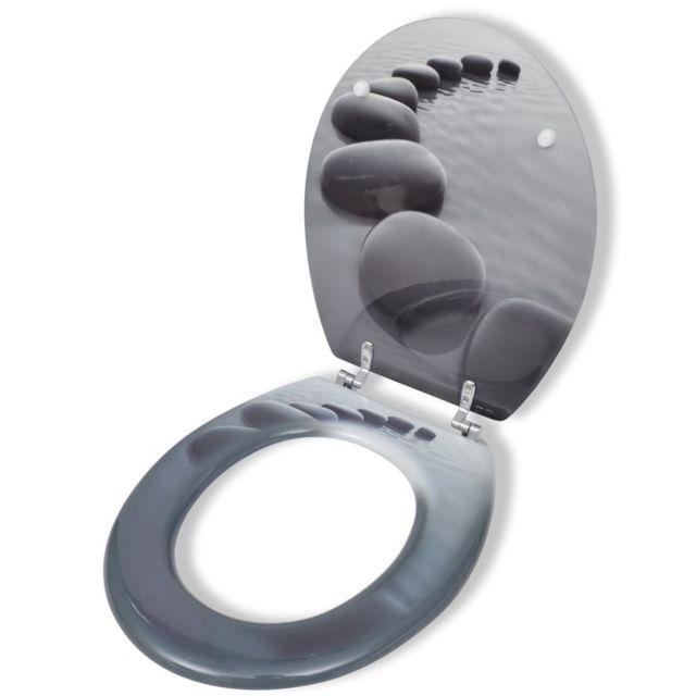 vidaXL Abattant de WC avec Couvercle Design New York Cuvette de WC Toilette