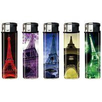 """Belflam - Piezo - Le lot de 5 briquets """"Tour Eiffel"""