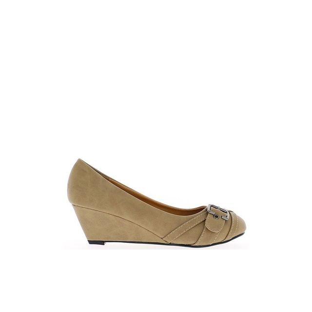 De Chaussures Taupe Compensées Talon Chaussmoi Petit Femme 7mIgvYb6yf