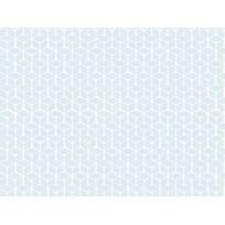 Graham And Brown - Papier peint vinyle expansé intissé motif géométrique blanc sur fond bleu 10.05x0.52m Nelio