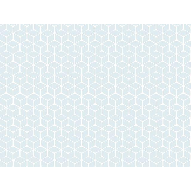 Graham Papier Peint Vinyle Expanse Intisse Motif Geometrique Blanc