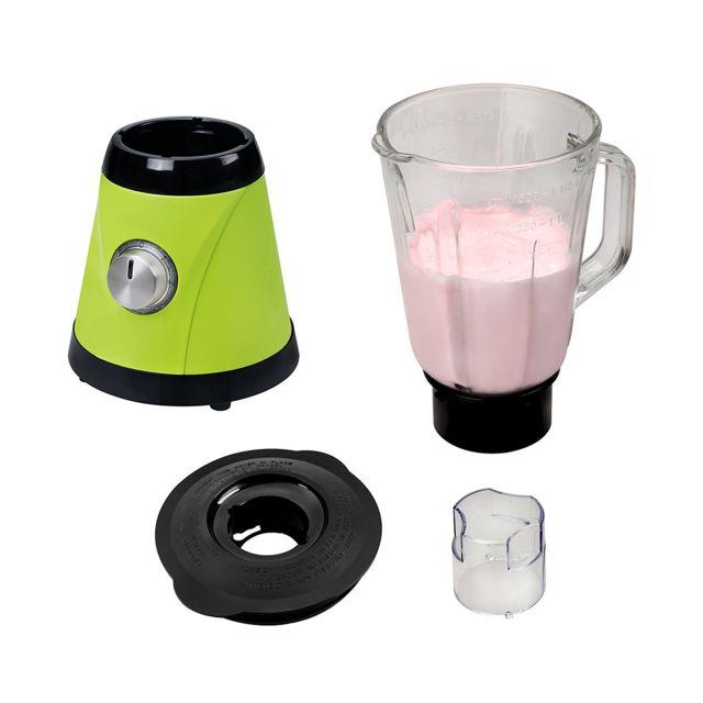 """KALORIK Blender Vert/Pomme 600 W BPA free - TKG BL 1002 AG - Capacité: 1,5 litres- 5 vitesses et fonction """"pulse""""- Convient pour piler de la glace- Bol mélangeur en verre- Couvercle avec orifice de remplissage- Lame en acier inoxyd"""