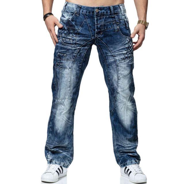 Kosmo Lupo Jean fashion Jean Kl040 bleu