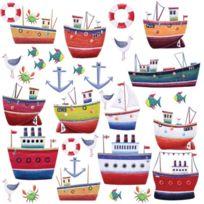 Jomoval - Roommates Stickers Muraux Repositionnables Enfant Navires Et Bateaux