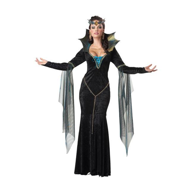 Méchante Noire Longue La Costume Robe Reine De E2HI9DW