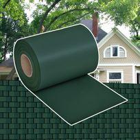 Vimeu-Outillage - Brise-vue pour clôture en Pvc vert en rouleau 70 x 0,19 m