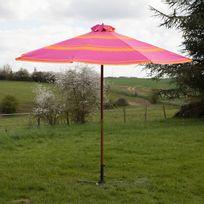 GreenPath - Parasol droit rond Eucalyptus Fsc / Polyester 180g/m² Pople