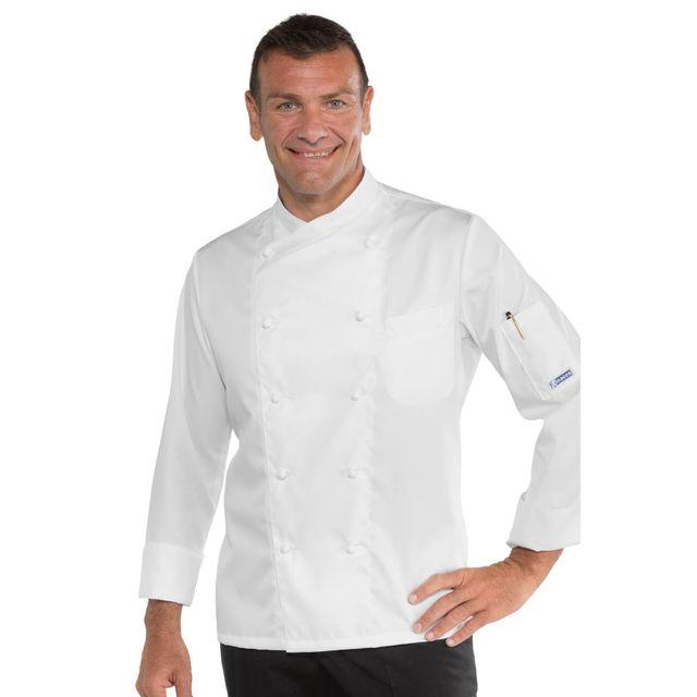 Isacco Veste De Cuisine Stretch Couleur Blanche Pas Cher Achat