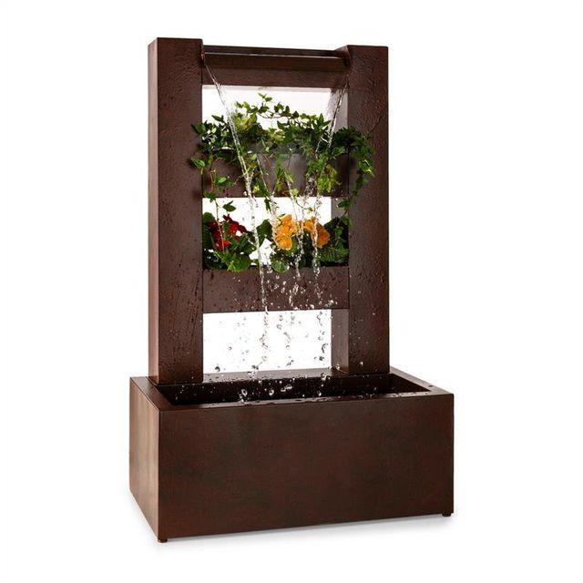 BLUMFELDT Lemuria Fontaine de jardin cascade & pot de fleur pompe 30W câble 10m