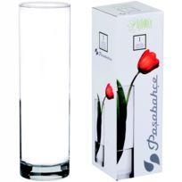 Promobo - Vase Tendance Forme Ronde Design Cylindre Aspect 26,5cm