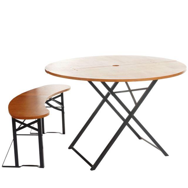 Mendler Ensemble Tente De Brasserie Erding Pliable 115cm Table