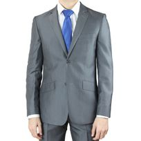 Studiomilano - Costume homme gris à rayure Sm29