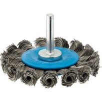 Forum - Brosse circulaire pour outils, fil d'acier torsadé, Ø de la brosse : 75 mm, Epaisseur du fil 0,50 mm, Larg. : de travail 8 mm, Vitesse maxi. : 20000 tr/mn