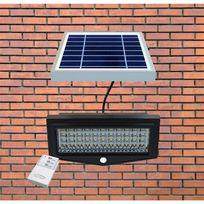 Solairepratique - Projecteur solaire avec détection de mouvement et télécommande Security Light T