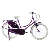 KS CYCLING - Vélo hollandais 26'' Dame Dutch Classic 3 vitesses pourpre TC 48cm