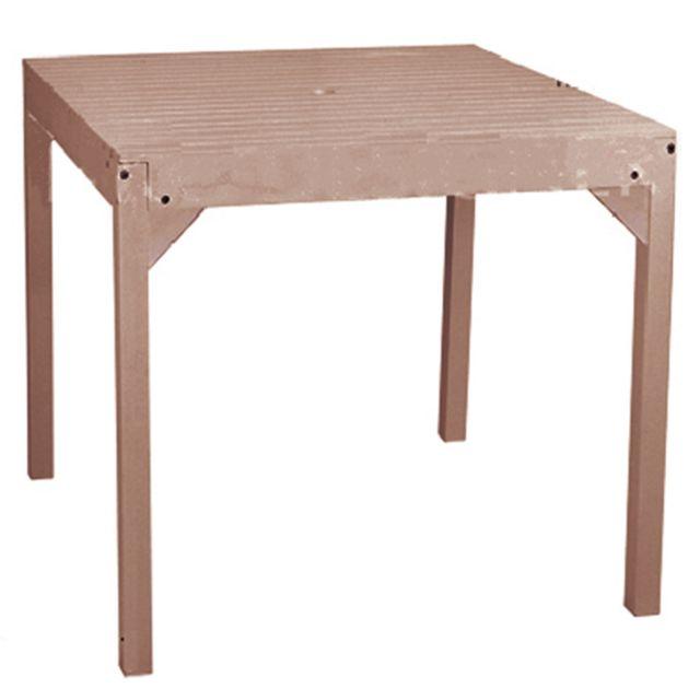 Pegane - Table de jardin en bois juniper forme carré coloris bois ...