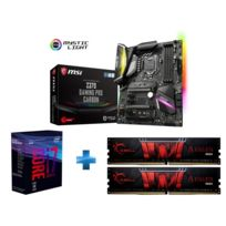 Core i7-8700 - 3,2/4,6 GHz + Aegis Gaming Series 8 Go 2 x 4 Go DDR4 2400 Mhz Cas 15 + Z370-GAMING-PRO-CARBON
