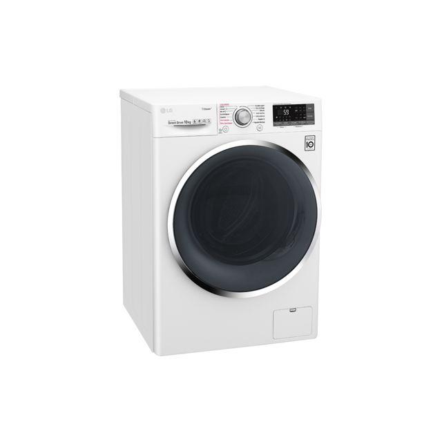 lg lave linge frontal 60cm 10kg 1400t a blanc f14j72whst achat lave linge hublot a. Black Bedroom Furniture Sets. Home Design Ideas