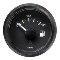 Vdo - Manometre Indicateur niveau essence Viewline - fond noir - Diametre 52mm