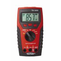 Testboy - Multimètre numérique avec capteur de tension/lampe de poche Led 3000
