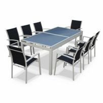 Table de jardin aluminium avec rallonge - Achat Table de jardin ...