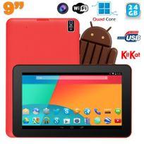 Yonis - Tablette tactile 9 pouces Android 4.4 Bluetooth Quad Core 24Go Rouge