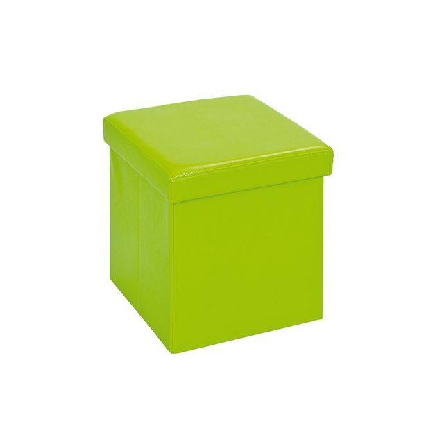 Altobuy - Warren - Pouf Coffre Pliant Vert - pas cher Achat   Vente ... 8cca0e03668c