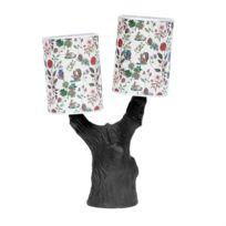 Domestic - You & Me-lampe à poser Arbre Céramique et Abat-Jour Tissu Automne H48cm Noir - designé par Nathalie Lété