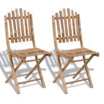 Chaises d'extérieur sublime Set de 2 chaises pliables en