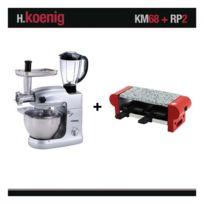 HKOENIG - Robot pétrin multifonctions pro KM68 1000W + RACLETTE RP2