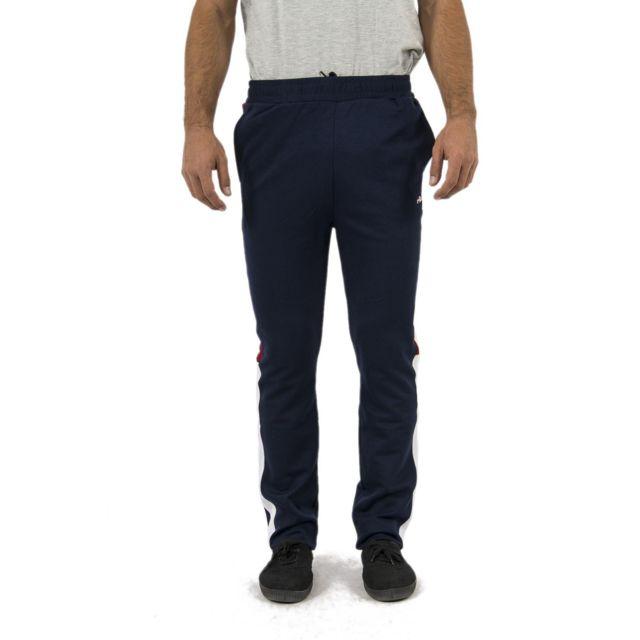100c304d92b Fila - Jogging 682357 nolin bleu - pas cher Achat   Vente Survêtement homme  - RueDuCommerce