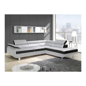 chloe design canap design d 39 angle studio angle droit blanc et noir 275cm x 72cm x 230cm. Black Bedroom Furniture Sets. Home Design Ideas