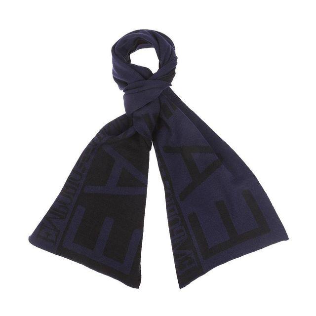 592f54ac0a60 Armani - Echarpe Ea7 bleu nuit et noire, monogrammée - pas cher ...