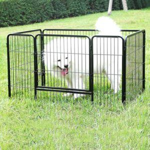 rocambolesk superbe parc pour chien enclos en fer pour animaux de compagnie noir ppk74h neuf. Black Bedroom Furniture Sets. Home Design Ideas