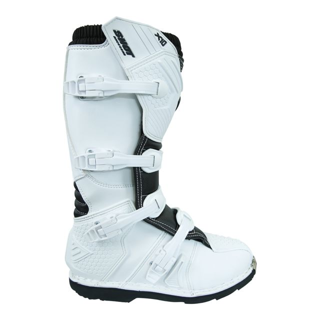 X10 2 Shot Bottes Moto Cross 43 0 White nw0k8OP