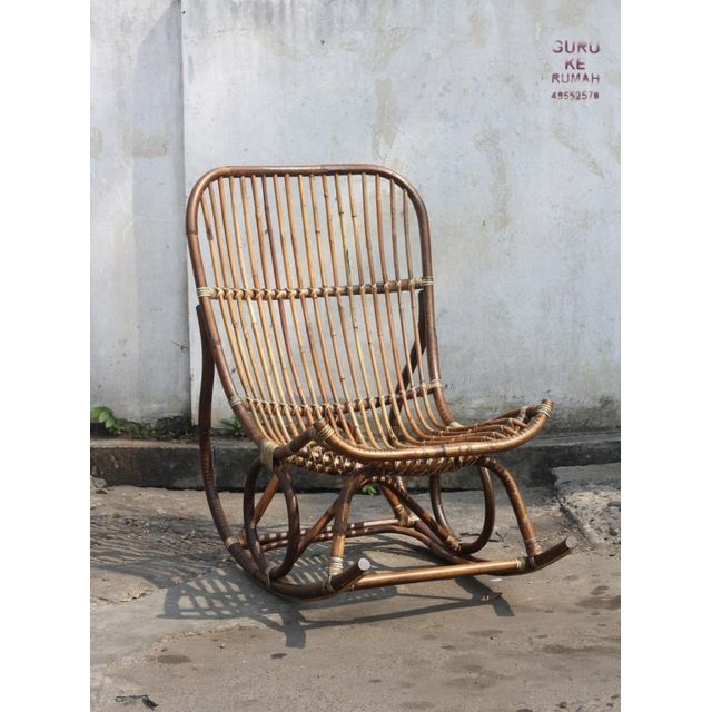 Tousmesmeubles Rocking chair - Manuella - L 68 x l 102 x H 102