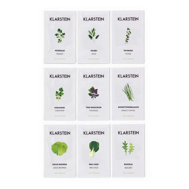 KLARSTEIN GrowIt Seeds Set de graines 9 herbes : 3x Asie 3x Europe 3x Salade