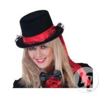 Coolminiprix - Chapeau haut de forme feutrine noir   bandeau rouge - Qualité e5af0fcd068