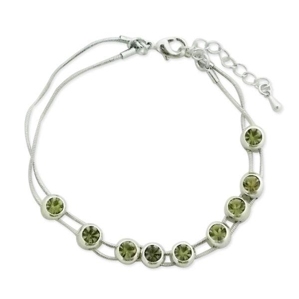 Totalcadeau - Bracelet aux faux cristaux verts mobiles bijou fantaisie pas  cher Acier - pas cher Achat   Vente Bracelets - RueDuCommerce b04cff09ee63