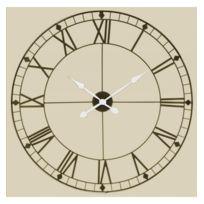 horloge chiffres romains achat horloge chiffres romains pas cher rue du commerce. Black Bedroom Furniture Sets. Home Design Ideas