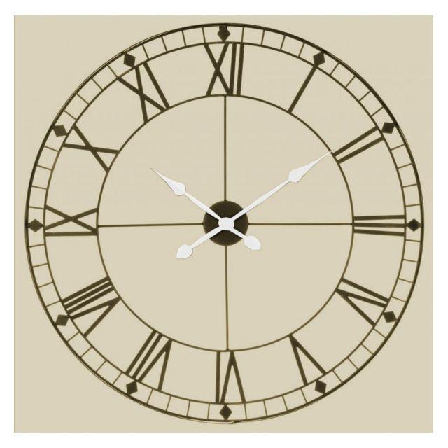 jja le depot bailleul horloge murale g ante vintage choco pas cher achat vente horloges. Black Bedroom Furniture Sets. Home Design Ideas